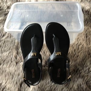 MICHAEL KORS BLACK SANDALS-NEW W/O BOX